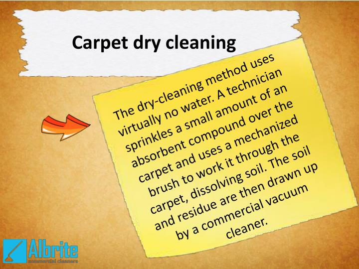 Carpet dry cleaning