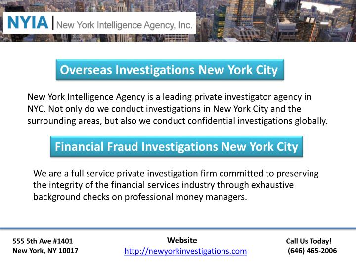 Overseas Investigations New York City