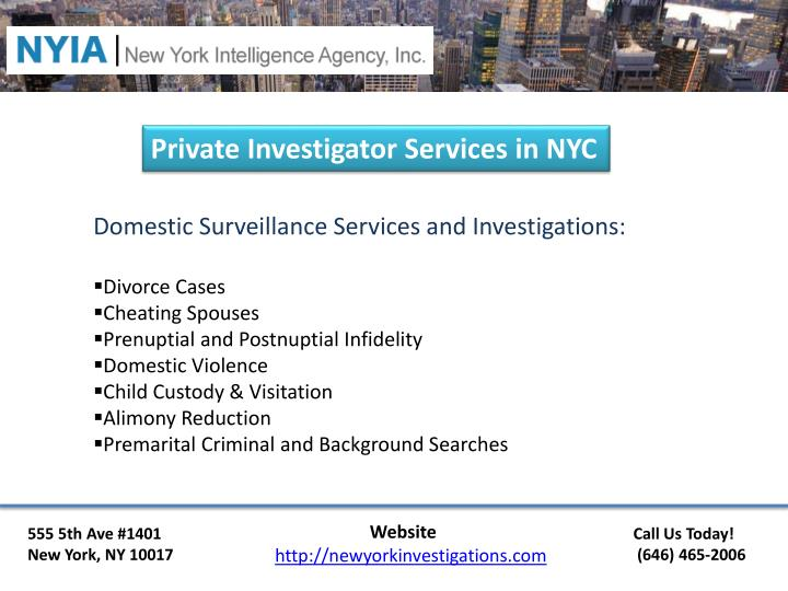 Private Investigator Services in NYC