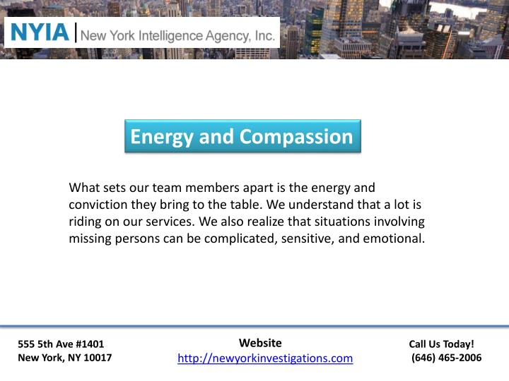 Energy and Compassion