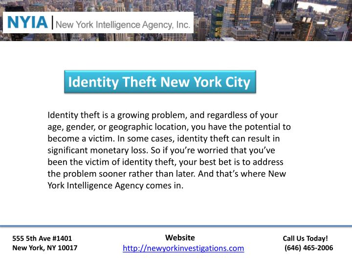 Identity Theft New York City