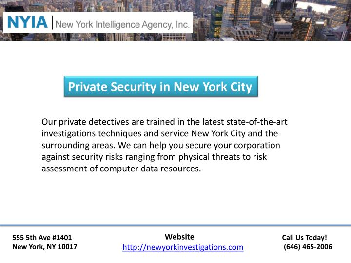 Private Security in New York City