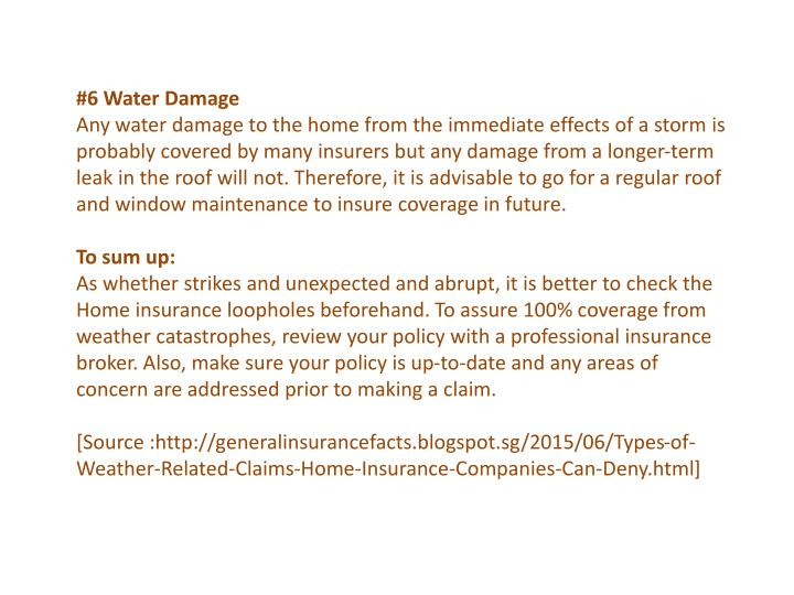 #6 Water Damage