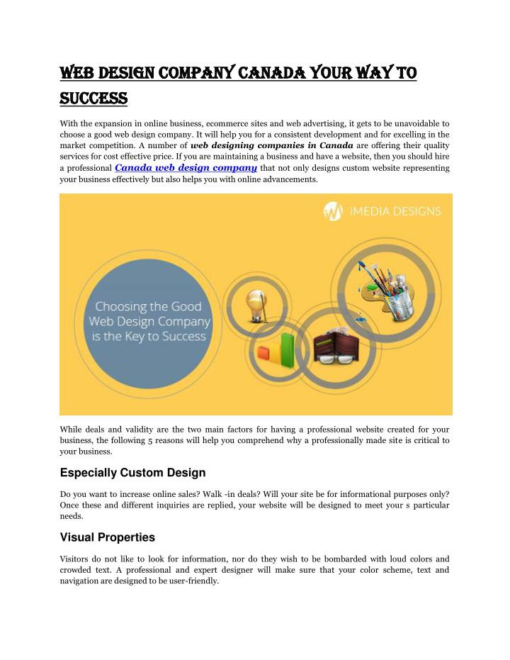 Web Design Company Canada Your Way To