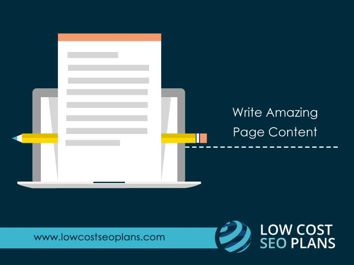 Write Amazing Page Content