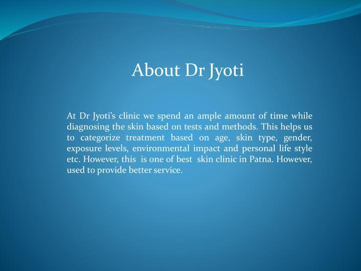 About Dr Jyoti