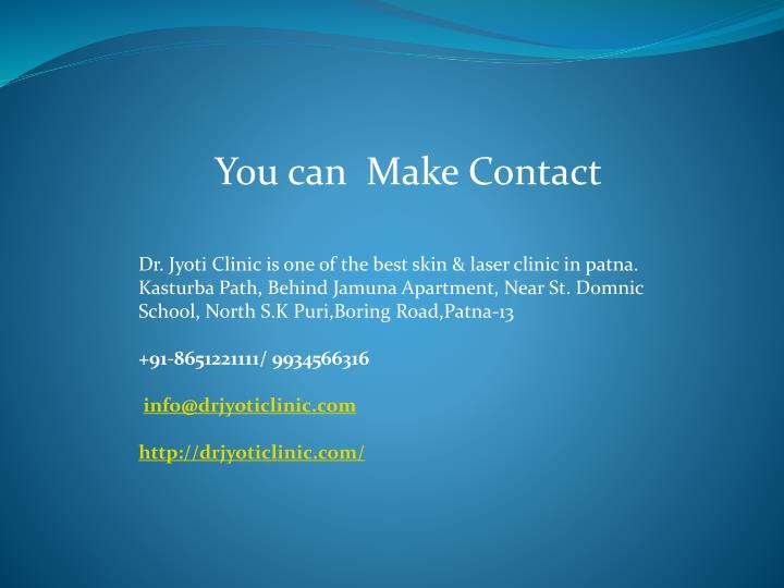 You can  Make Contact