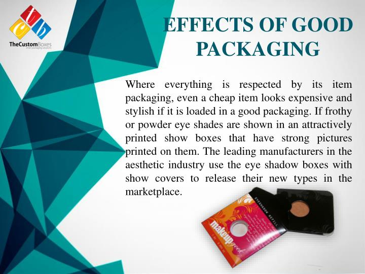 EFFECTS OF GOOD PACKAGING