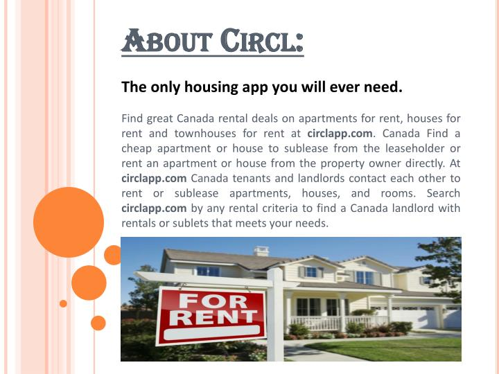 The only housing app you will ever need.