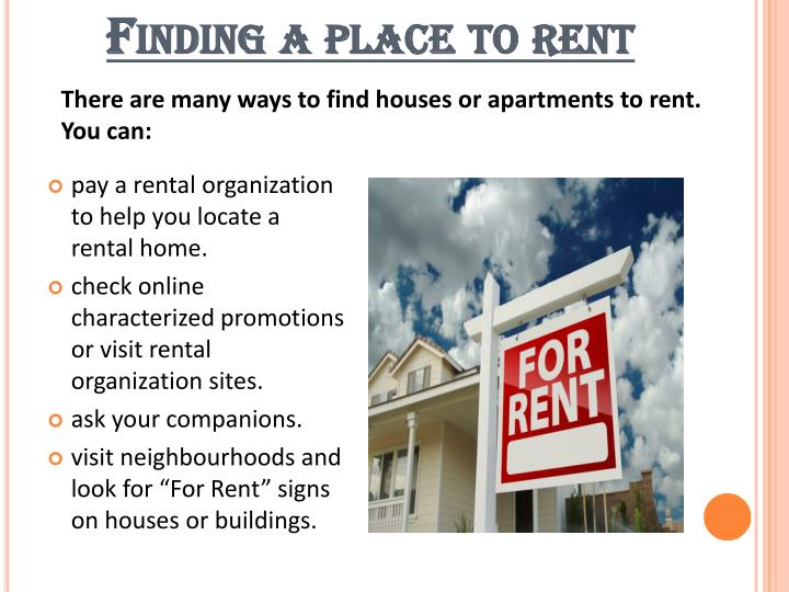 Finding a place to rent