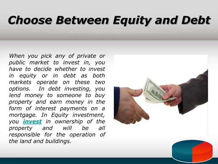 Choose Between Equity and Debt