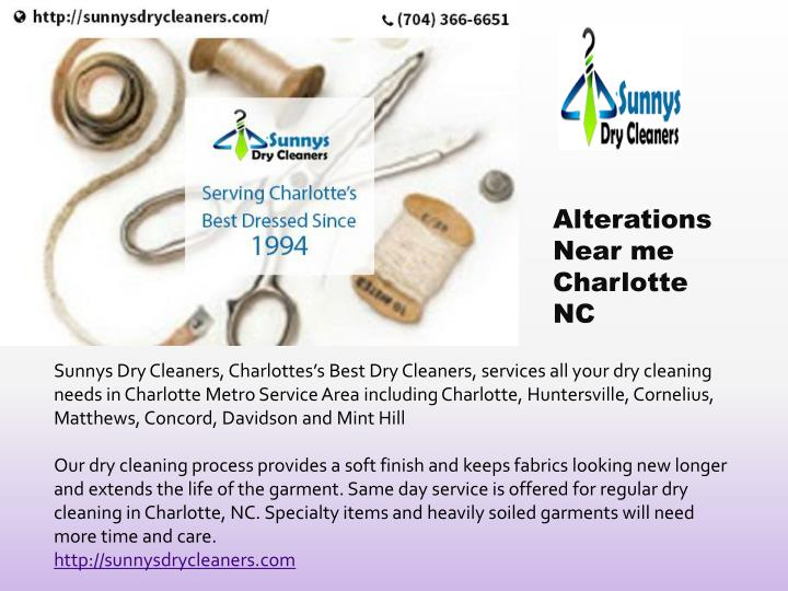 Alterations Near me Charlotte NC