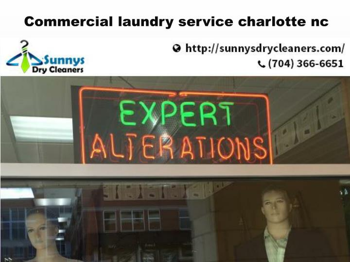 Commercial laundry service charlotte