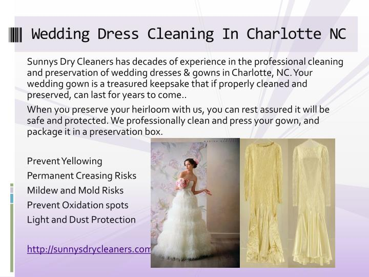 Wedding Dress Cleaning In Charlotte NC