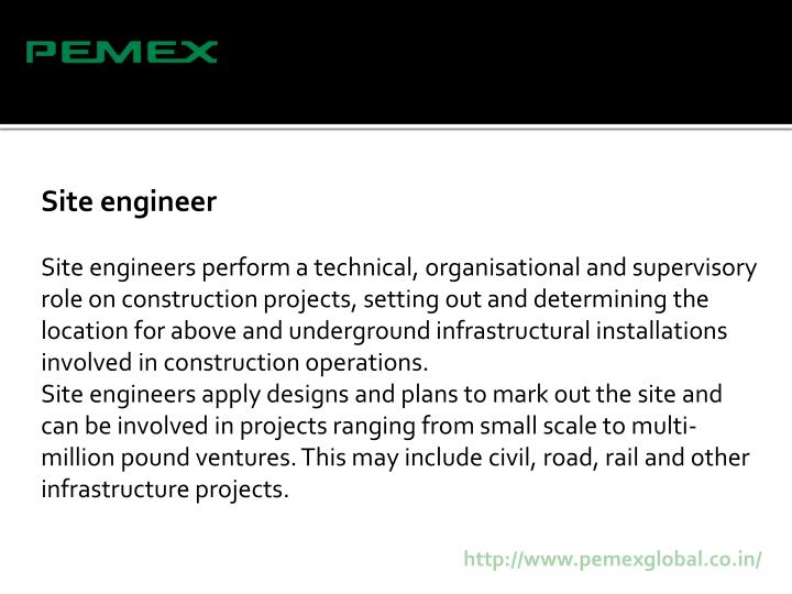 Site engineer