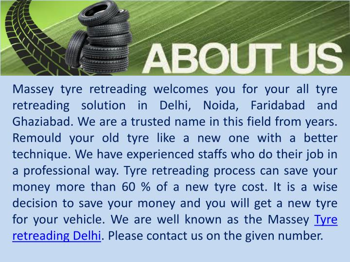 Massey tyre retreading welcomes you for your all tyre