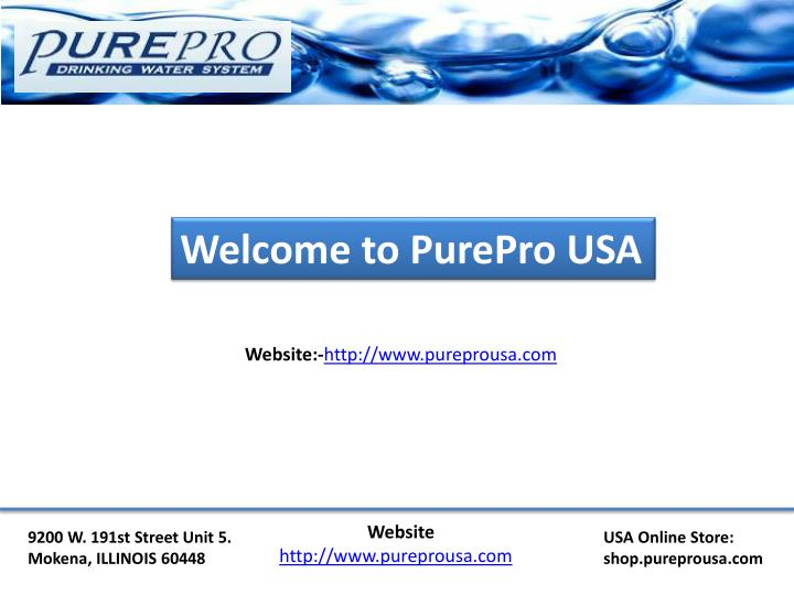 Welcome to PurePro USA