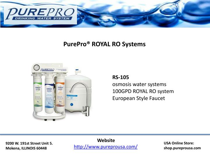 PurePro® ROYAL RO Systems