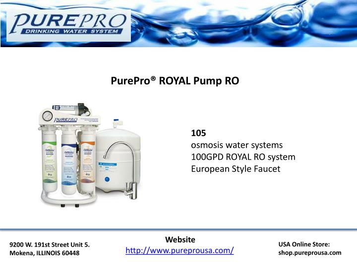 PurePro® ROYAL Pump RO