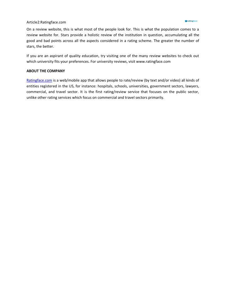 Article2:Ratingface.com