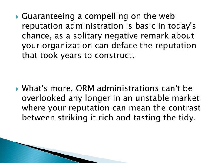 Guaranteeing a compelling on the web reputation administration is basic in today's chance, as a solitary negative remark about your organization can deface the reputation that took years to construct