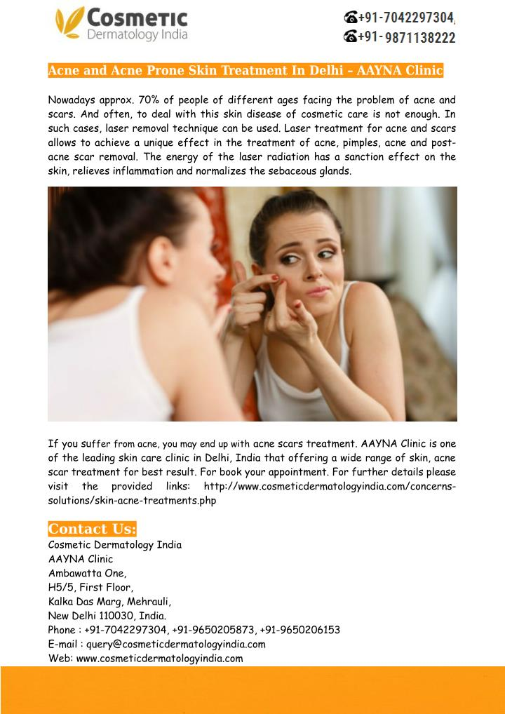 Acne and Acne Prone Skin Treatment In Delhi – AAYNA Clinic