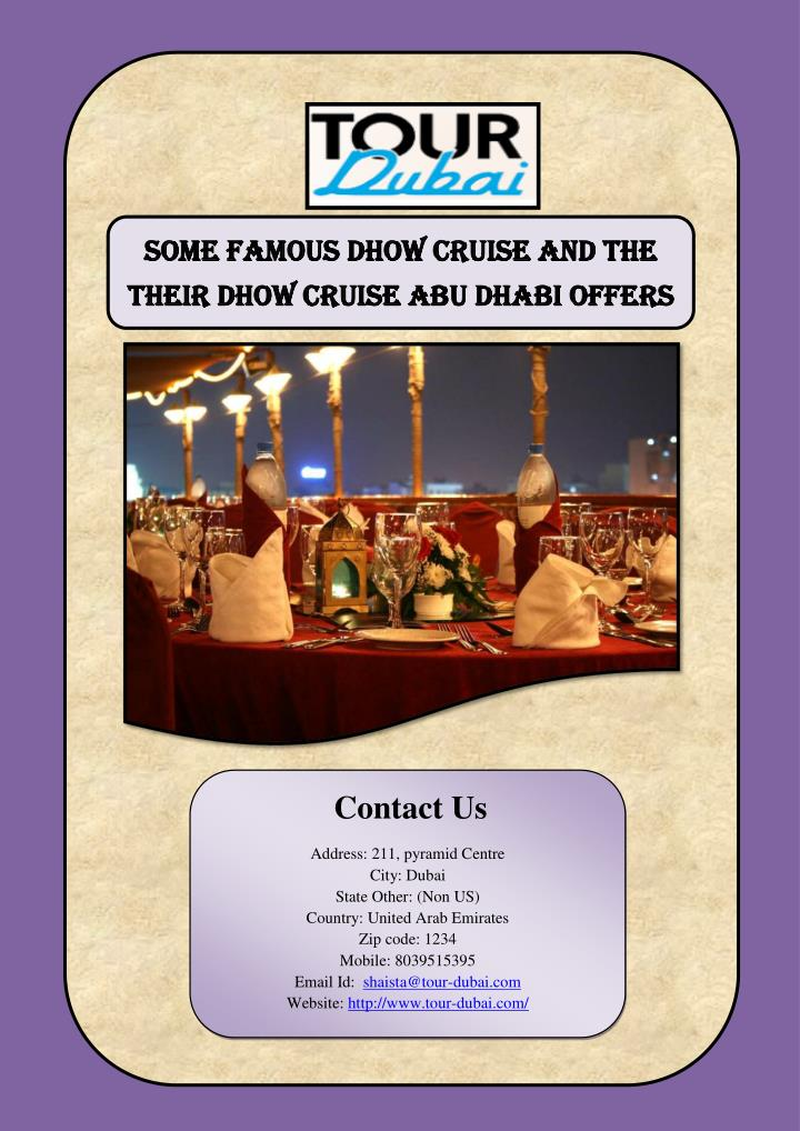 Some Famous Dhow Cruise And The