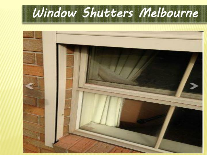 Window Shutters Melbourne