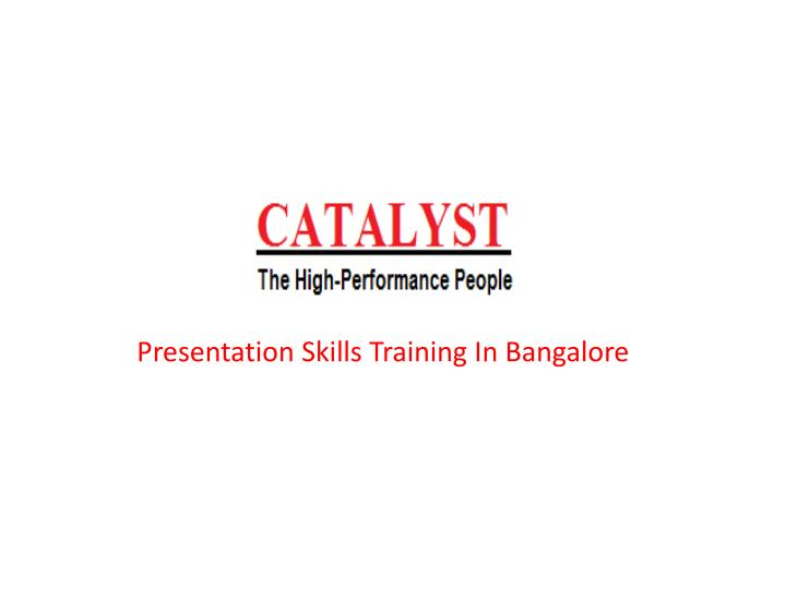 Presentation skills training in bangalore