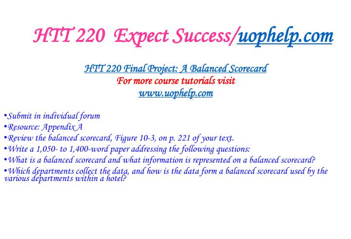Htt 220 expect success uophelp com2