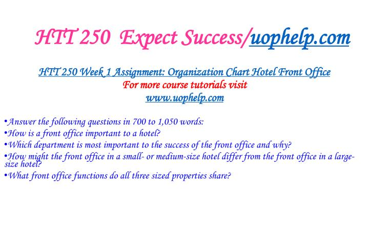 Htt 250 expect success uophelp com2