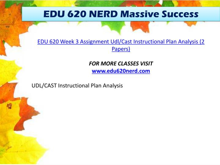 EDU 620 NERD Massive Success