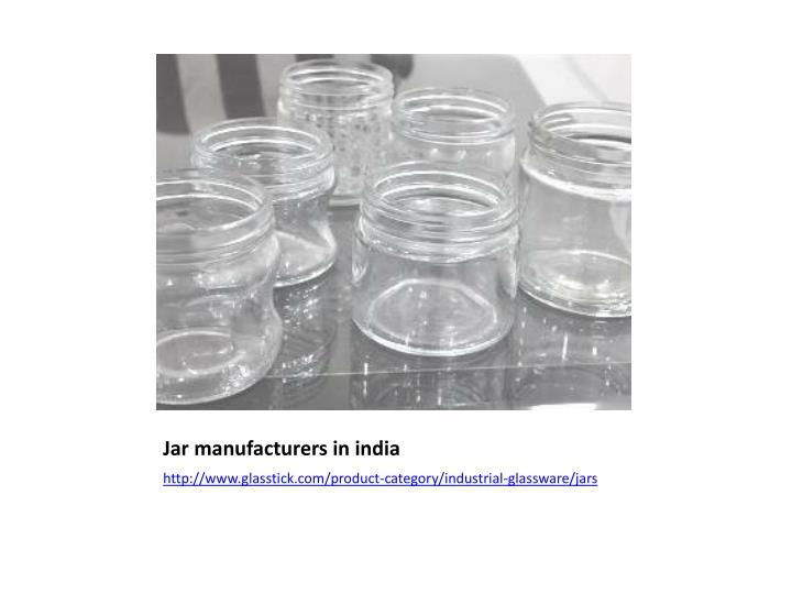 Jar manufacturers in
