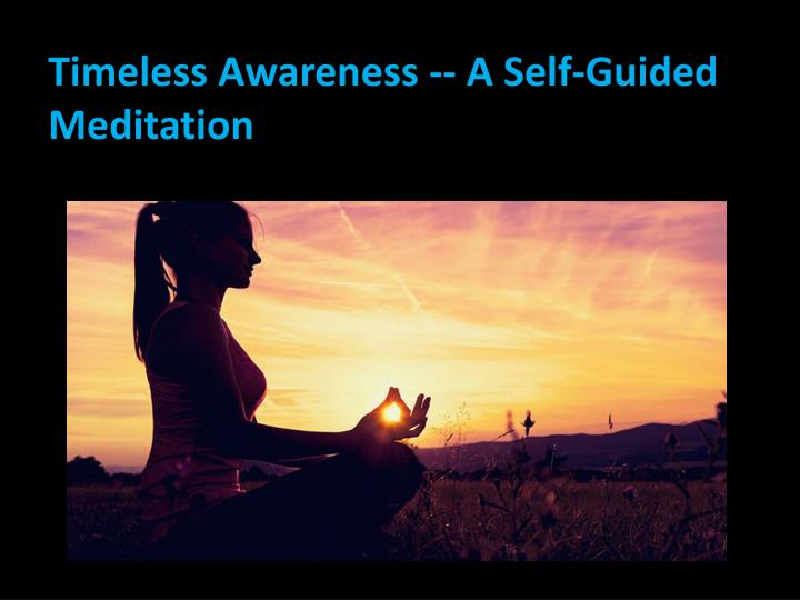 Timeless Awareness -- A Self-Guided