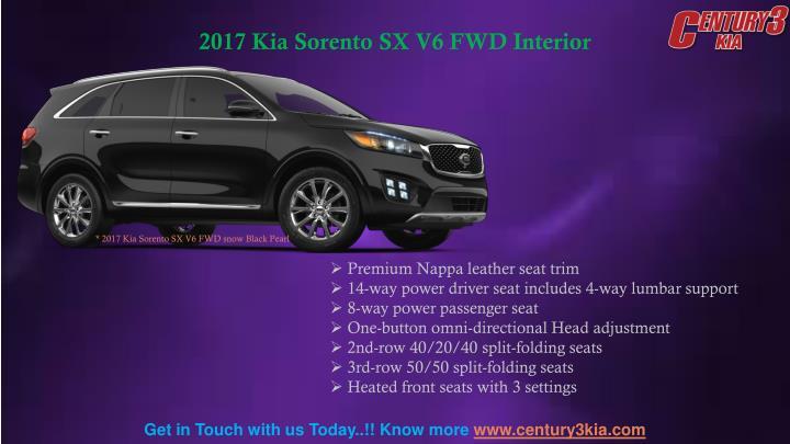 2017 Kia Sorento SX V6 FWD Interior