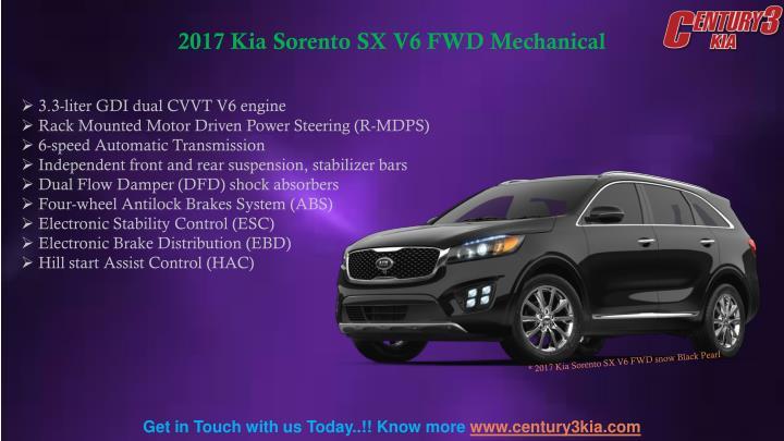 2017 Kia Sorento SX V6 FWD Mechanical