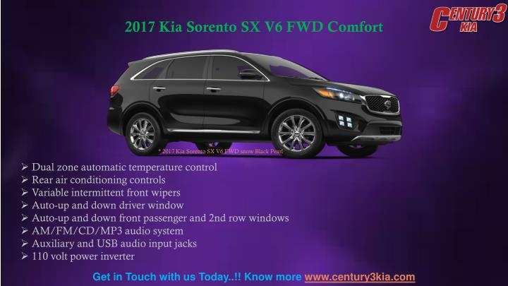 2017 Kia Sorento SX V6 FWD Comfort