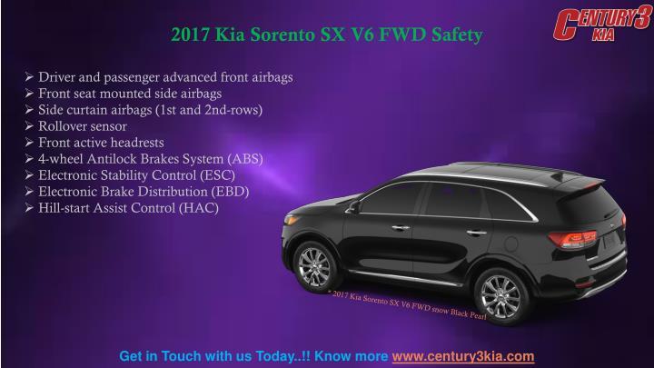 2017 Kia Sorento SX V6 FWD Safety