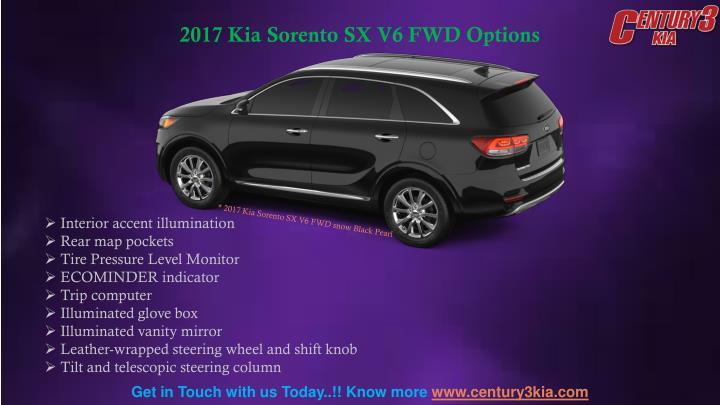 2017 Kia Sorento SX V6 FWD Options