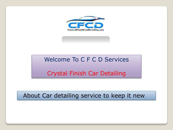 Welcome To C F C D Services
