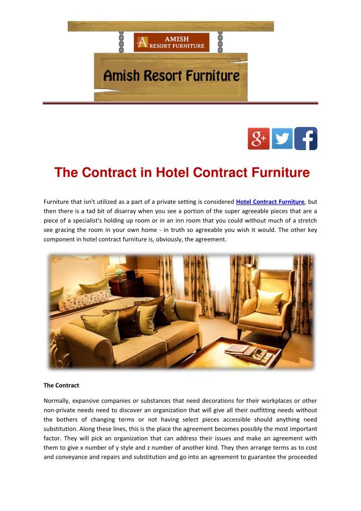 The Contract in Hotel Contract Furniture