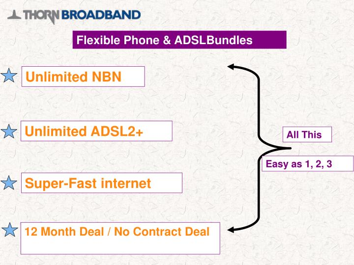 Flexible Phone & ADSLBundles