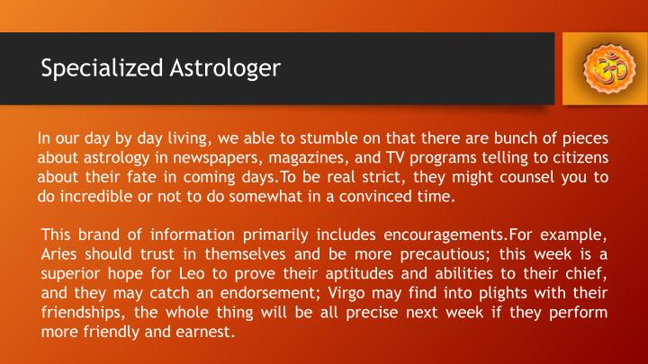 Specialized Astrologer