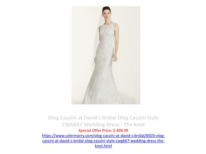 Oleg Cassini at David's Bridal Oleg Cassini Style CWG667 Wedding Dress - The Knot
