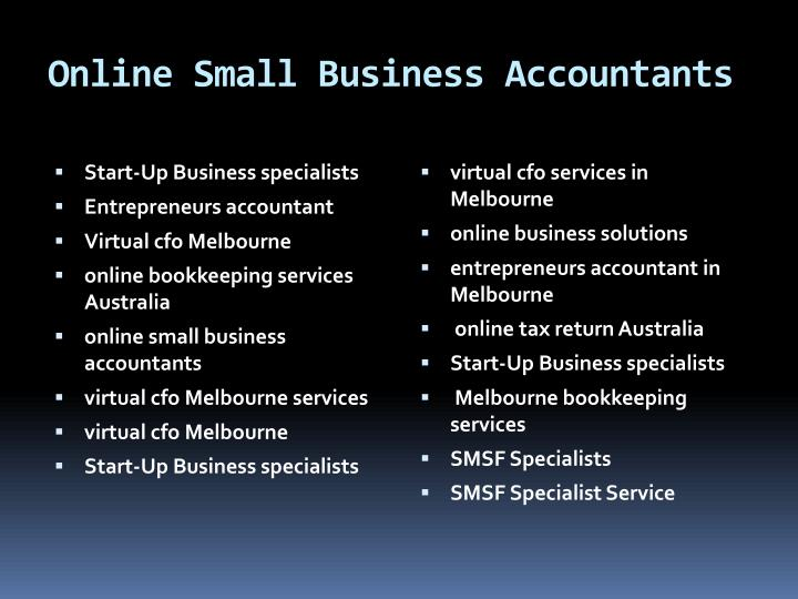 Online Small Business Accountants