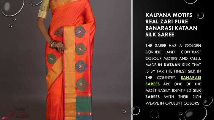 Kalpana Motifs Real Zari Pure