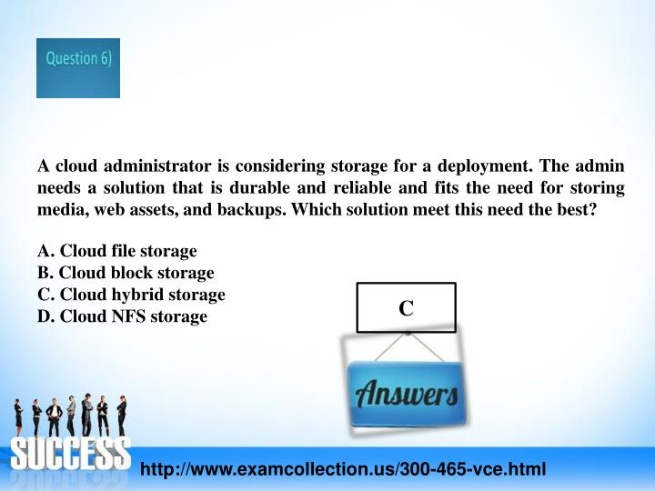 A cloud administrator is considering storage for a deployment. The admin needs a solution that is durable and reliable and fits the need for storing media, web assets, and backups. Which solution meet this need the best?