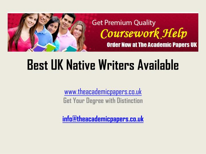 Best uk native writers available