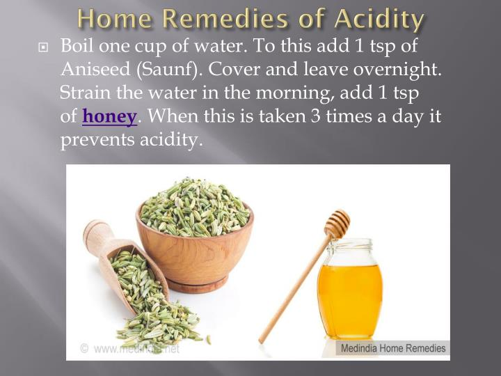 Home Remedies of Acidity