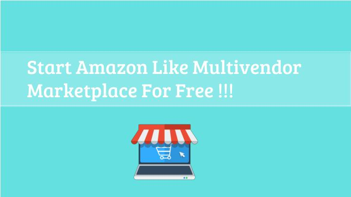 Start Amazon Like Multivendor